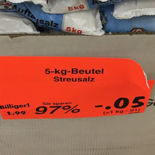 Kaufland Bochum Ruhrpark - Streusalz 5 kg
