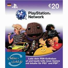 20 Euro PlayStation Network Card - €20 EUR PS3 PS4 PSP PSN Guthaben Code Key- DE