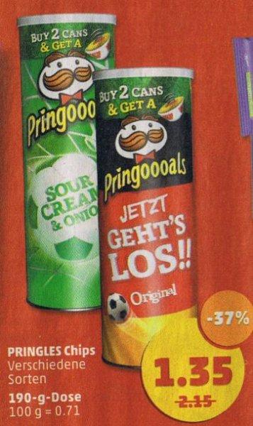 [Penny] Pringles (190g Dose) für 1.35 €