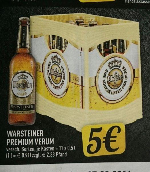 [Lokal NRW][Edeka] Warsteiner 11x 0,5l für 5€