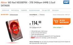 WD Red WD30EFRX - 3TB 5400rpm 64MB 3.5zoll - NAS Festplatte - Cyberport