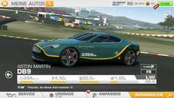 [RealRacing 3] Aston Martin DB9 geschenkt