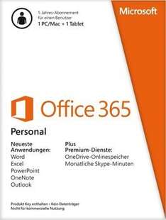 [NBB] Microsoft Office 365 Personal inkl. G Data Internet Security (1 Jahr) für 27,98€ bzw. 24,99€ (Studenten) *** Office 365 Home für 52,98€