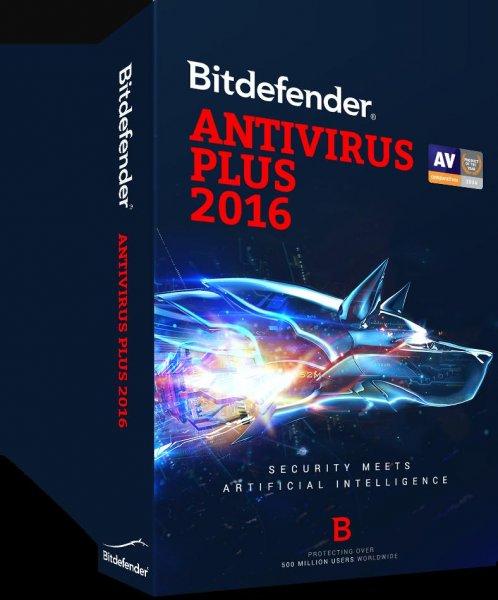 Bitdefender Antivirus Plus 2016- 3 PCs