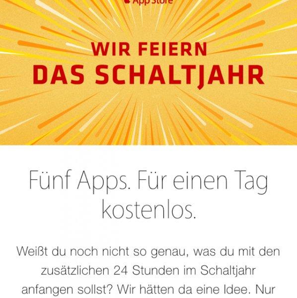 iOS 5 Kostenlose Apps nur heute