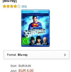 Superman - Der Film - Blu-ray für 5€ [Prime] (VGP 8,99€) @ Amazon