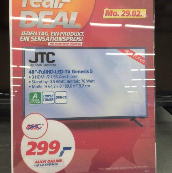 Jay Tech 48 Zoll Full HD Real Bundesweit nur Heute