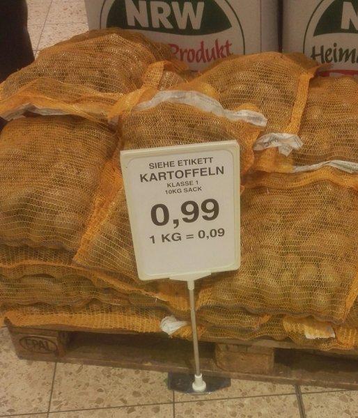 Rewe Dortmund 10 kg Kartoffeln für 0,99€