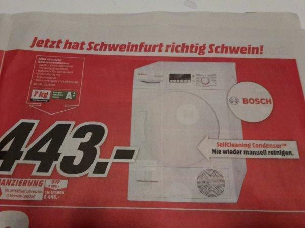 [Lokal Schweinfurt Media Markt] Bosch™ - Wärmepumpentrockner WTW 83260