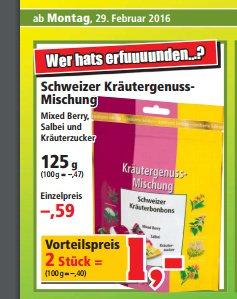 [Thomas Philipps] Ricola Schweizer Kräuter-Mischung 2x 125g bzw. 100g = 0,40 Euro