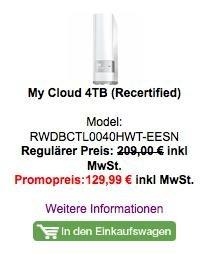 My Cloud 4TB (Recertified) - auch 3,2,1 TB verfügbar