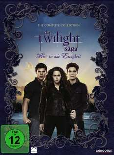 Die Twilight-Saga in der Komplettbox ab 10,99€ inkl VSK @ Redcoon