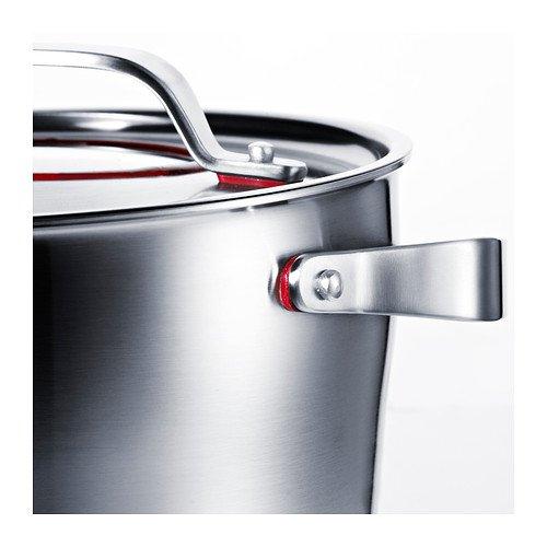 SENSUELL Topf mit Deckel - 24 cm Ø, 5,5 l, Edelstahl, induktionsgeeignet, 25 Jahre Garantie ab 29,99 € statt 49 € [IKEA]