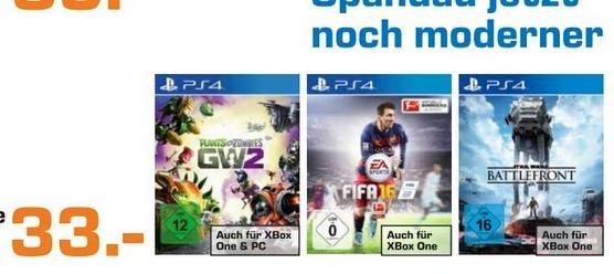 (Lokal-berlin-Spandau) Fifa 16 und Star Wars Battlefront je 33 Euro (XBoxOne + PS4)