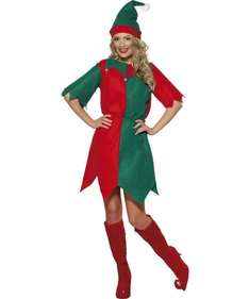 (amazon Prime) Kostüm Kobold Rot und Grün mit Hut und Tunika für 3,53 €