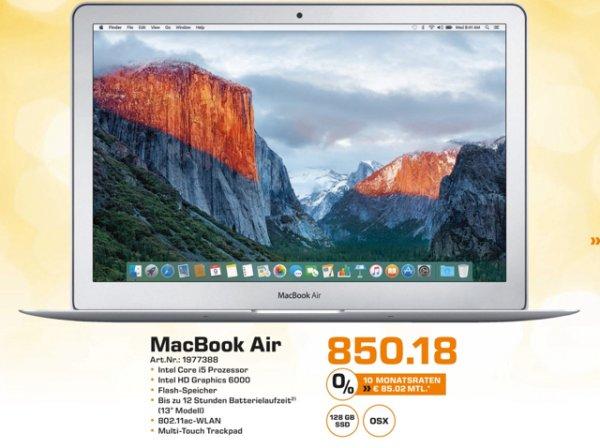 """[Saturn Baden-Württemberg] Apple MacBook Air 13"""""""