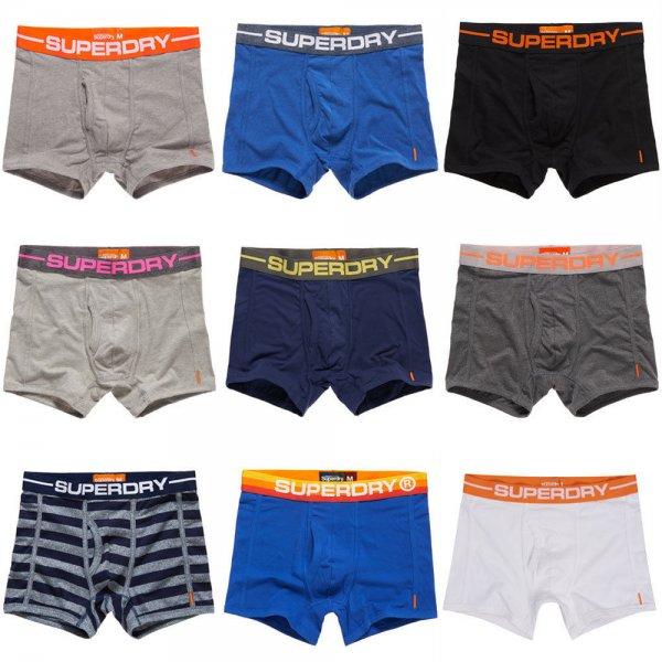 Neue Herren Superdry Boxershorts. Verschiedene Modelle, Farben und Größen