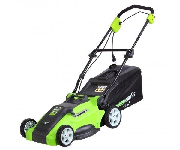 [Hitseller] Greenworks Elektro-Rasenmäher 1200 W, 40 cm Mähbreite - 7 Jahre Garantie -