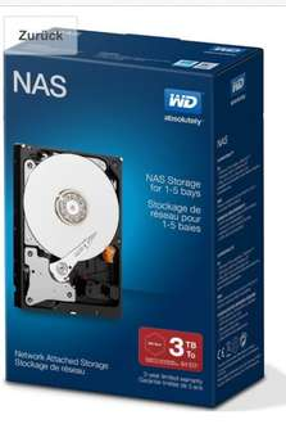 [Amazon] WD Red Festplatte 3TB (Retail-Kit)