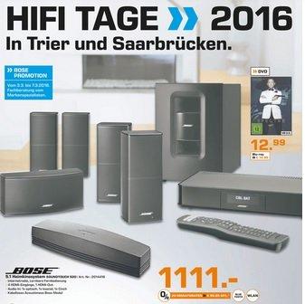 Bose 5.1 Heimkinosystem Soundtouch 520 für 1111€ (PVG ca. 1450€)@Saturn Trier/Saarbrücken