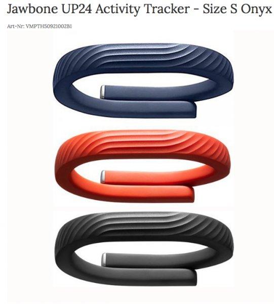 Jawbone Up24 Aktivitätstracker für 29,90€ B-Ware @ Markenbilliger.de - Größe S,M und L wählbar