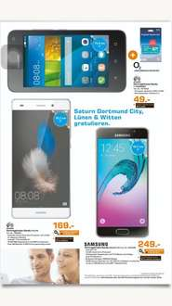 Saturn Dortmund Eving Samsung Galaxy A3(2016)/ HUAWEI P8 Lite