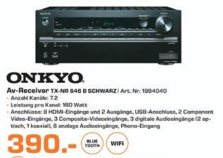 [Lokal] Saturn Bochum u. Hattingen Onkyo TX-NR646 für 390€