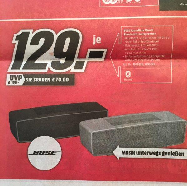 [Lokal] Bose Soundlink Mini 2 im MediaMarkt Oststeinbek