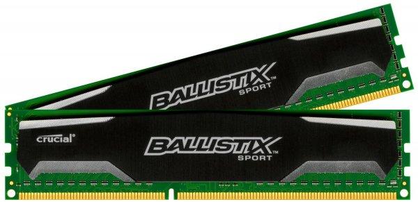 [Amazon] Crucial Ballistix Sport (1600MHz, 240-polig, CL9, 2x 8GB) DDR3-RAM Kit für 57,90€
