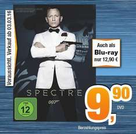 [Regional Norddeutschland] Spectre DVD 9,90, BD 12,90 bei expert Bening