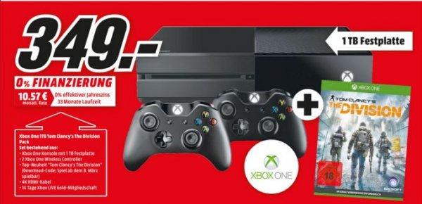 Lokal MM Stuttgart, deutschlandweit? Xbox One 1 TB incl. 2 Controller + Tom Clancy's The Division