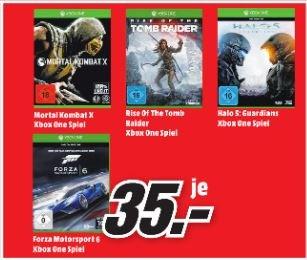 [Lokal Mediamarkt Bischofsheim, Mainz, Alzey] XBOX One Spiele: Halo 5, Rise of the Tomb Raider, Forza 6 für je 35€