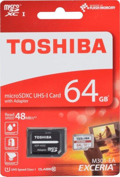 [Mediamarkt] Toshiba Exceria microSDXC 64GB Class 10 / U1 für 15€