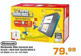 [Lokal Saturn Essen,Mülheim,Oberhausen] Nintendo 2DS Schwarz/?Blau + New Super Mario Bros. 2 (Special Edition)  für  79,99€
