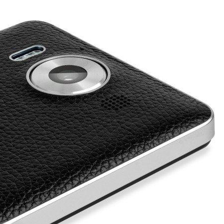 Lumia 950 mozo Leder-Cover schwarz - nur Schweiz! Preis in CHF (braun CHF