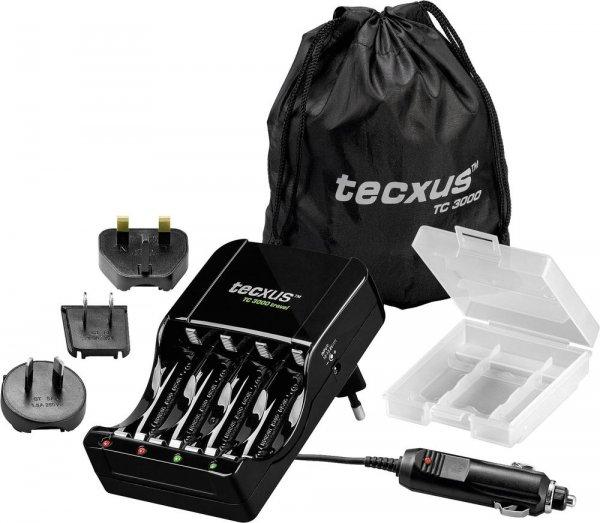 [Conrad] Ladegerät Tecxus TC 3000 für AA + AAA (Akku?Defekt-Erkennung, Einzelschachtüberwachung, Erhaltungsladung, kurzschlussfest + Überladeschutz) für 14,99€
