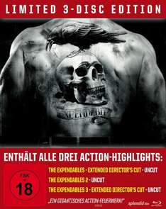 [Müller] The Expandables - Trilogy (Limited Edition, 3 Discs, Steelbook, Uncut) (Blu-ray) für 19,99€