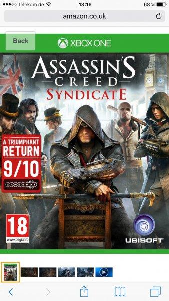 [Amazon.co.uk]Assassins Creed Syndicate Xbox One 22,77