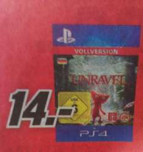 [Media Markt - lokal Dessau-Roßlau] Unravel - PSN PS4 Code für 14€