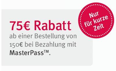 75€ Gutschein bei 150€Bestellwert für Mydays bei Zahlung per Masterpass - Fallschirmsprünge ab 124€