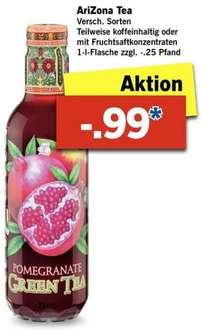 [Lidl] AriZona Iced Tea 1 Liter für 0,99€