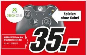 [Lokal Mediamärkte Mainz,Alzey und Bischofsheim] Microsoft Xbox One Wireless Controller (2015) (schwarz) für 35,-€