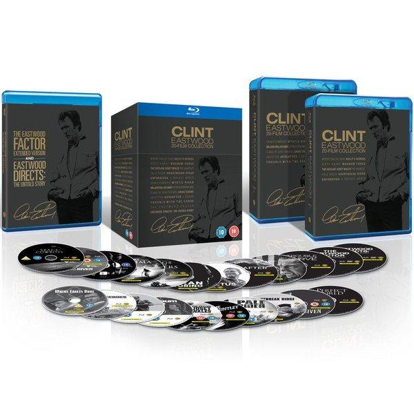 [Zavvi] Clint Eastwood Blu-ray Collection mit  20 Filmen 3 davon OT