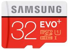[Amazon Prime] Samsung Speicherkarte MicroSDHC 32GB EVO Plus Class 10 mit SD Adapter für 8,99€