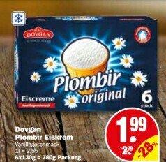 [NP Discount ab 07.03.] Dovgan Plombir Eiskrem 780g Packung für 1,99€