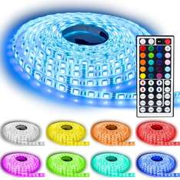 [ebay] NINETEC 5m LED Strip, 60 LEDs pro Meter, Wasserdicht IP65, 44 Tasten Fernbedienung 19,99€