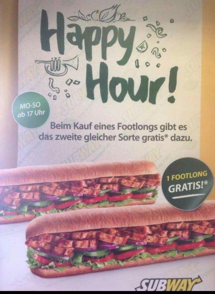 [Offline] Subway Landshut Altstadt Happy Hour (2 für 1)
