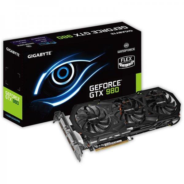 Gigabyte GeForce GTX 980 Windforce 3X OC, 4GB GDDR5 für aktuell 409,- Euro