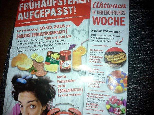 [Lokal] Gratis Frühstückspaket am 10.03.2016 NP-Markt Enger