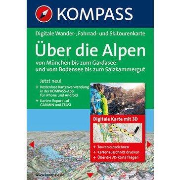 Kompass - Reiseführer über die Alpen mit Digitalen 3D Karten für 44,99€